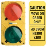 Communication system includes inside & outside flashing lights with wall mounted sign
