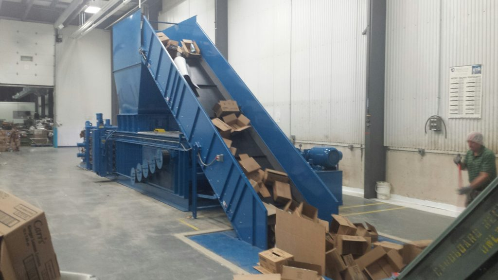 Horizontal Conveyor Feed Baler michigan